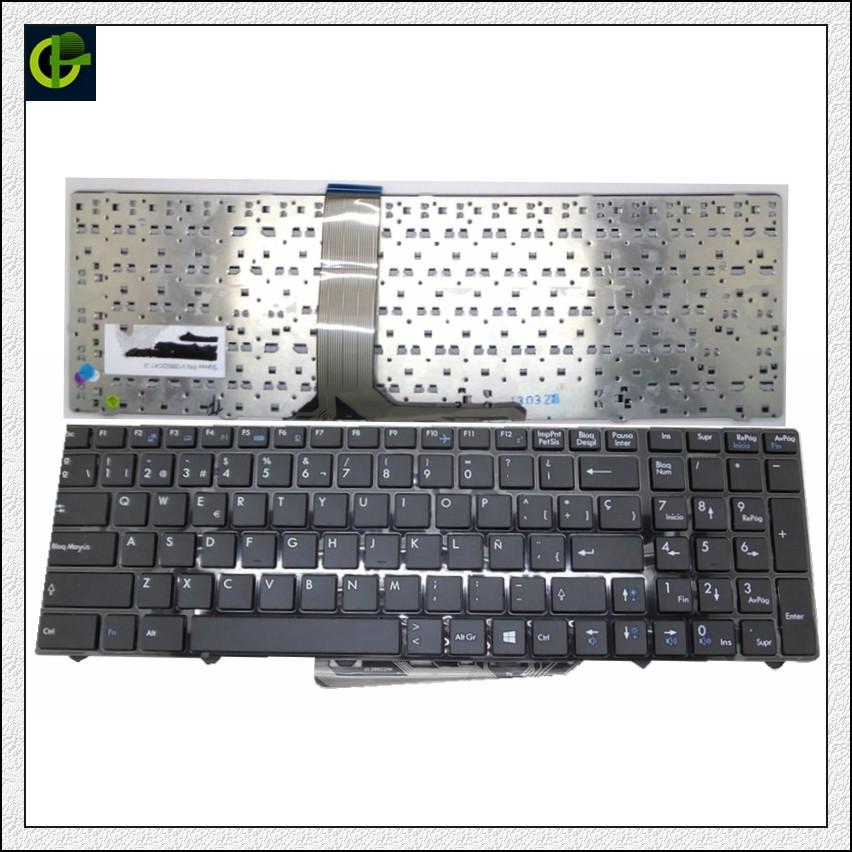 Spanish Keyboard for MSI MS-1755 MS-1756 MS-175A MS-1758 MS-1759 MS-1762 MS-1763 MS-1764 MS-16F3 MS-16F4 MS-1761 Latin LA SP ms max ms204