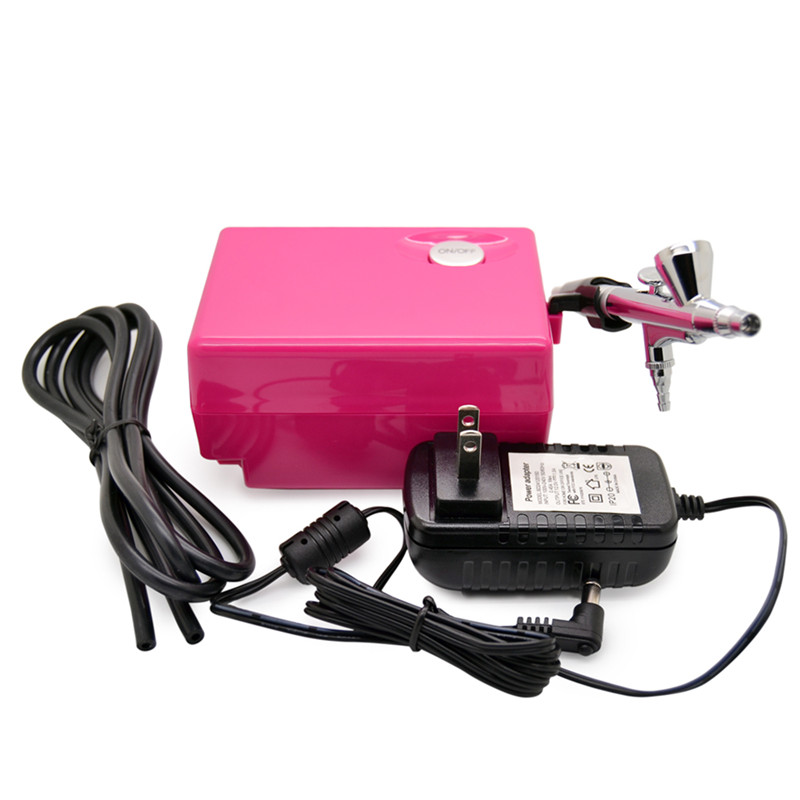 ELERA Dual-action Airbrush Kit Pen Body Paint Makeup Spray Gun for Nail Paint Art Drawing with Air Compressor, Horse