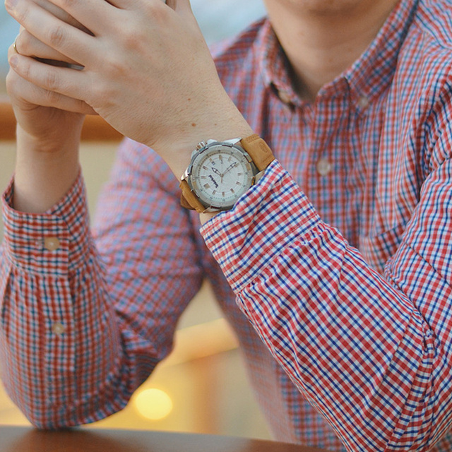 Original Men's Quartz Multi-Function Calendar Water Resistant Watch 5