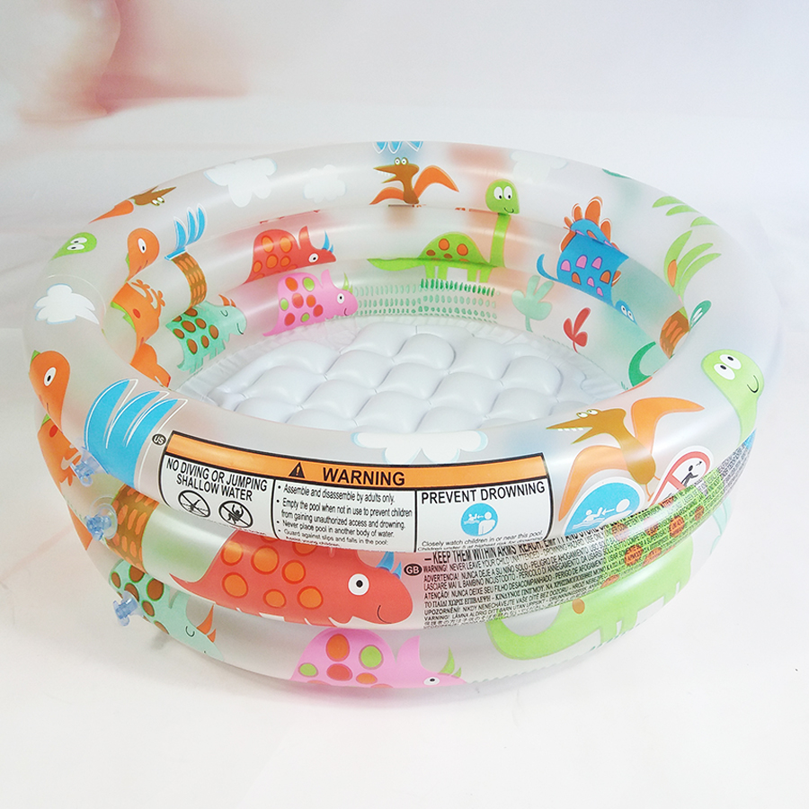 Antiskid Inflation Base Baby Small Swim Pool Shower Room Bathtub Dinosaur Pattern 3 Layers Of Separate Inflatable Pool