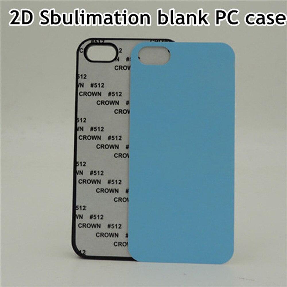 imágenes para 10 unids/lote DIY Sublimación 2D En Blanco de Plástico Duro Caso Para el iphone 5 5S SÍ Contraportada con Inserciones De Aluminio y hoja de pegamento