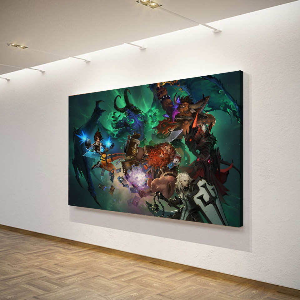 1 Piece Canvas Art Canvas Painting Game Blizzard Warriors HD Printed Wall Art Home Decor Poster Pictures for Living Room XA1477C