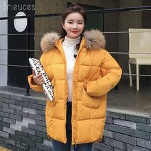 Brieuces 2019 New Long Parkas Female Winter Coat Women Thickening Cotton Jacket Womens Outwear for Hooded