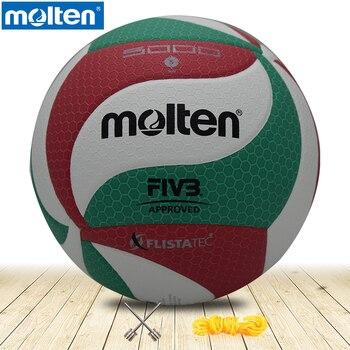 748ffdcfe17c7 Volley-ball en fusion d'origine V5M5000 nouvelle marque de haute qualité  véritable matériel en fusion PU taille officielle 5 gratuit avec sac en  filet + ...