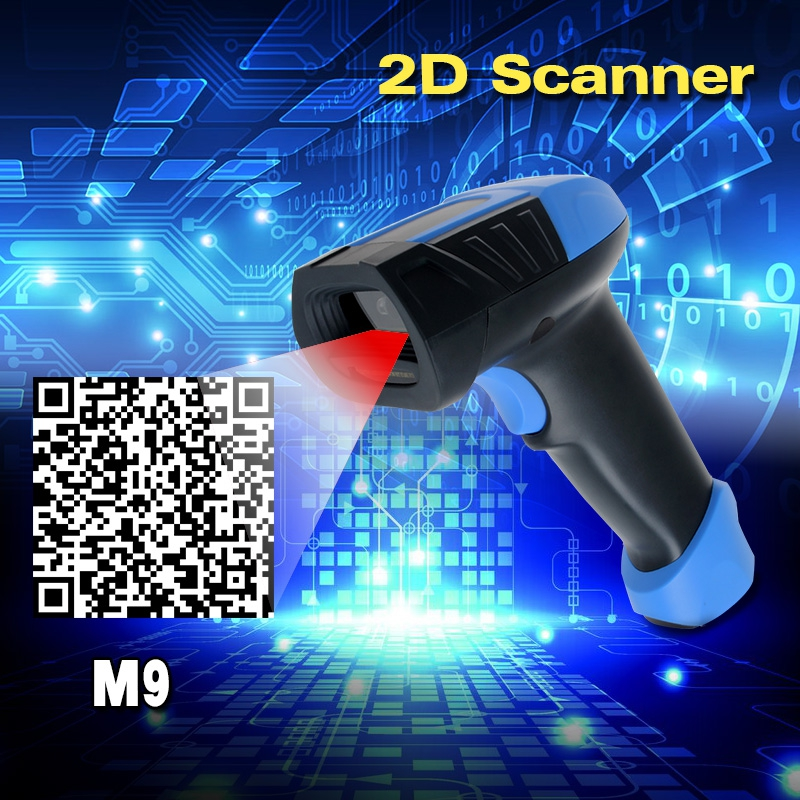 ФОТО High Quality M9 2D QR Wired USB Laser Bar Code Scanner Reader Auto Sense (No Press Button)&Virtual COM Port on PC