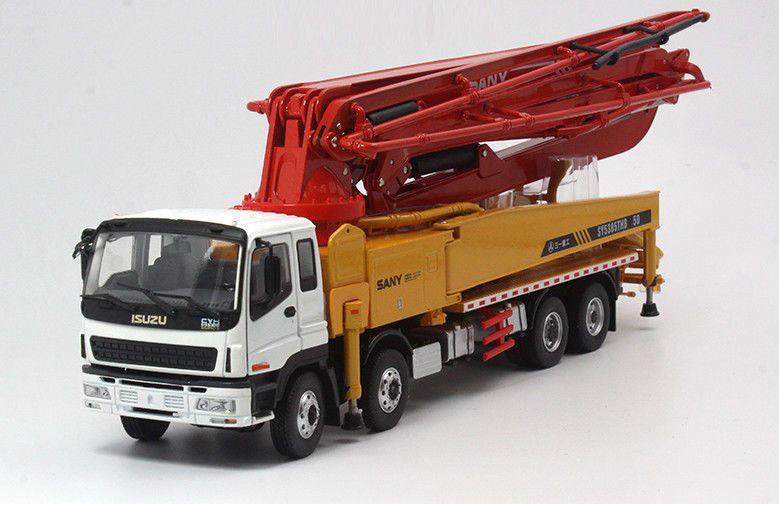 1:38 Diecast Truck for SANY ISUZU 50m Concrete Pump SY5385THB-50 Truck X Foot Mobile Machinery Shop Engineering1:38 Diecast Truck for SANY ISUZU 50m Concrete Pump SY5385THB-50 Truck X Foot Mobile Machinery Shop Engineering