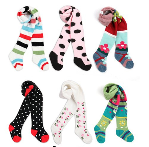 6pcs/lot Baby Pantyhose Stockings 7 Styles Children's Tights For Boys Girls Dance Tights Leg Warmer 0-2T Free Shipping