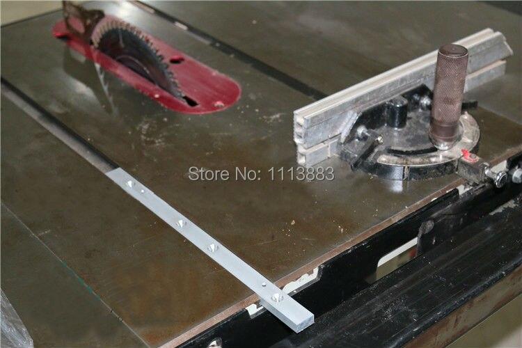 "Купить с кэшбэком 650mm (25.5"") Aluminium Miter Slider Bar for Standard T-Track, Woodworking Table Saw Accessories"
