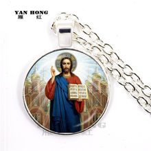Orthodox Church, glass jewelry, necklace, may God bring you good luck, peace, happiness, the best gift to friends.(China)
