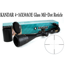 Tactical Optical Sight Gold Edition KANDAR 4-16×50 AOME Glass Mil-dot Reticle Locking RifleScope Hunting Rifle Scope