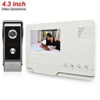 4 3 Inch LCD Monitor Video Door Phone Doorbell Gate Intercom 700TVL HD Metal Camera System