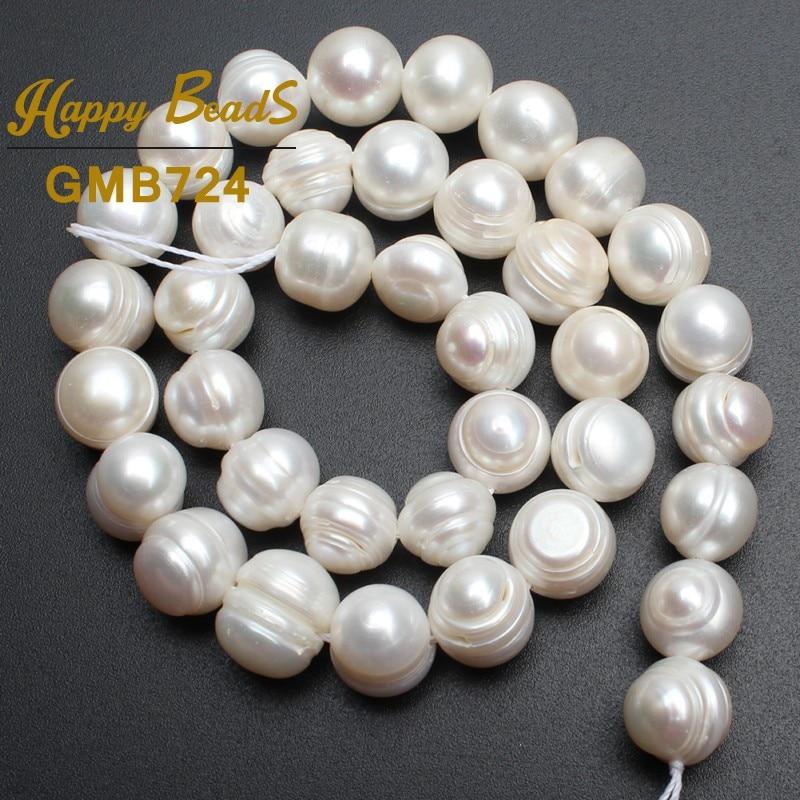 Perlas redondas perlas blancas de agua dulce natural para hacer la - Bisutería - foto 2