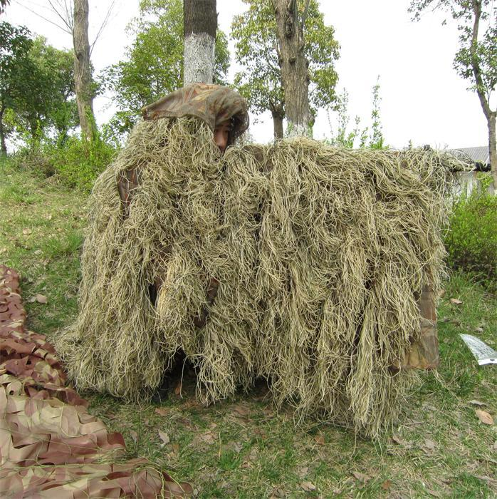 Outlife Hunting Ghillie Suit Military Tactical Ghillie Suit Camouflage Cloak Jungle Desert Woodland Sniper Birdwatching Poncho cs camouflage suits set bionic disguise uniform hunting woodland sniper ghillie suit hunting jungle military train cloth s049