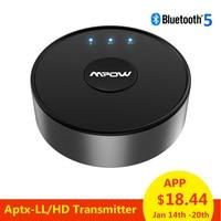 Mpow BH261 Aptx HD Aptx LL Bluetooth 5.0 Wireless Transmitter Audio AUX Adapter 15m/50ft Operation Range For TV Never Power Off
