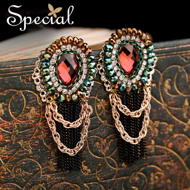 Special Tassel Stud earrings Vogue Personality  Classic Vintage Luxurious Jewelry Free shipping New product  EH13A10079