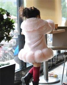 Image 4 - ใหม่ 2018 เด็กทารกแขนยาวWinter Faux FURยี่ห้อFUR Coatสำหรับหญิงอย่างเป็นทางการSoft PARTYเสื้อเด็กงานแต่งงานOutwear