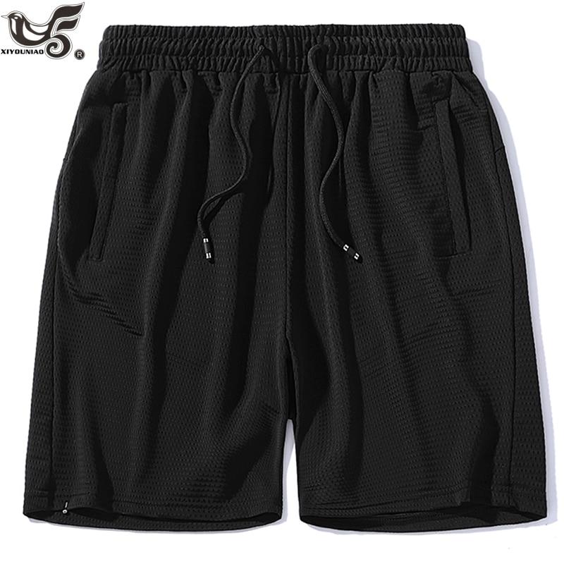Men`s mesh Breathable beach   Shorts   Men loose   Short   Trousers Fitness Bodybuilding Jogger sporting Sweatpants Workout   Short