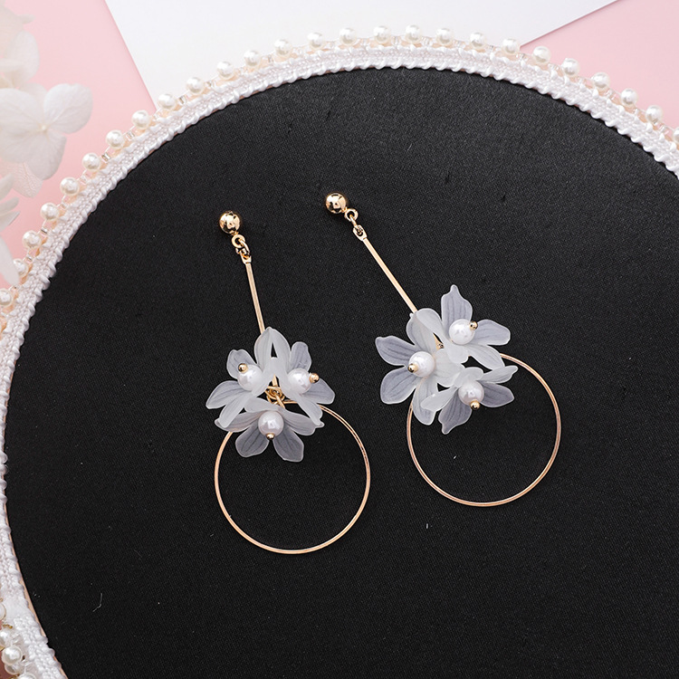Ethnic Plant Women Dangle Earrings Small Fresh Acrylic Flower Pole Long Earrings For Women Drops Earrings 7