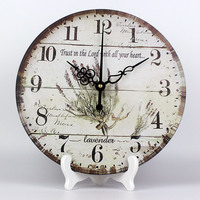 wholesale Mediterranean vintage home mute decorative style home decoration desk table watch clocks to wall best gift