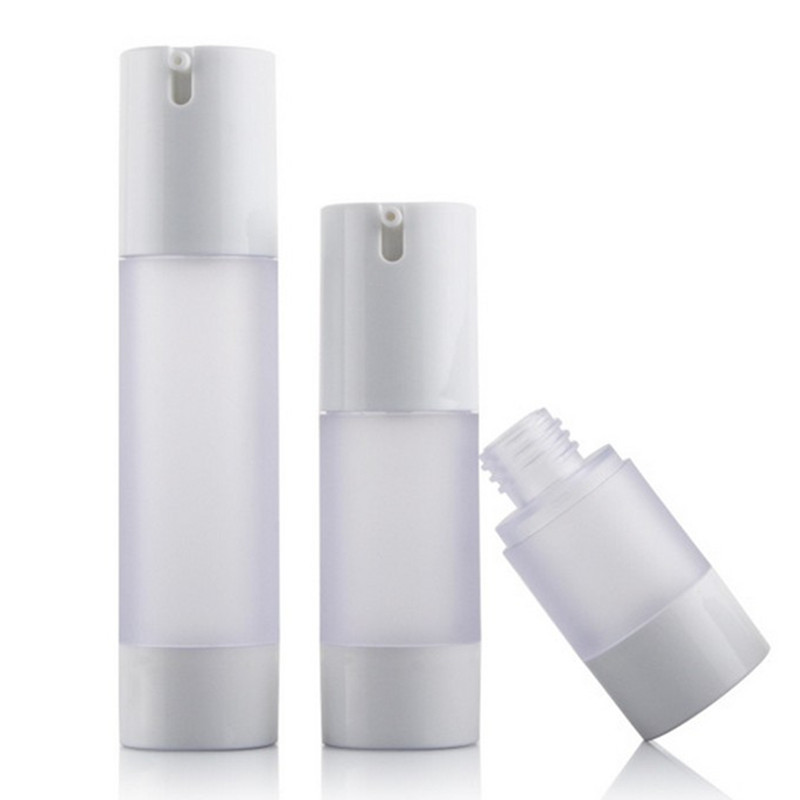 5pcs 15ml/30ml/50ml 2Dsigns Airless Pump Vacuum Scrub Bottle Toiletries Container Plastic Dispenser Travel Cosmetic Bottle