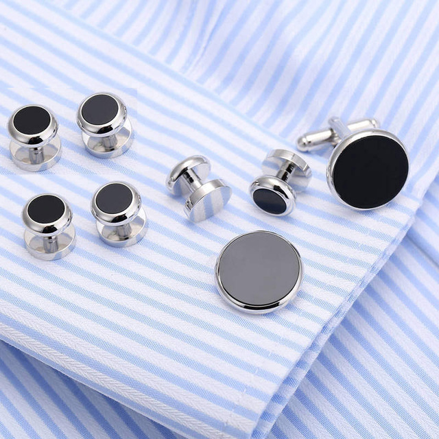 Vagula Cufflinks Collar Studs 8pcs Aaa Tuxedo Cuff Links Jewelry 530