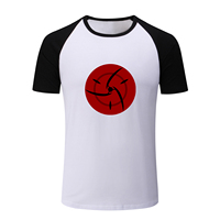 Mangekyo Sharingan Symbol Pattern T Shirt Men Boy Women Raglan Sleeve T Shirt Karma Tattoo Design