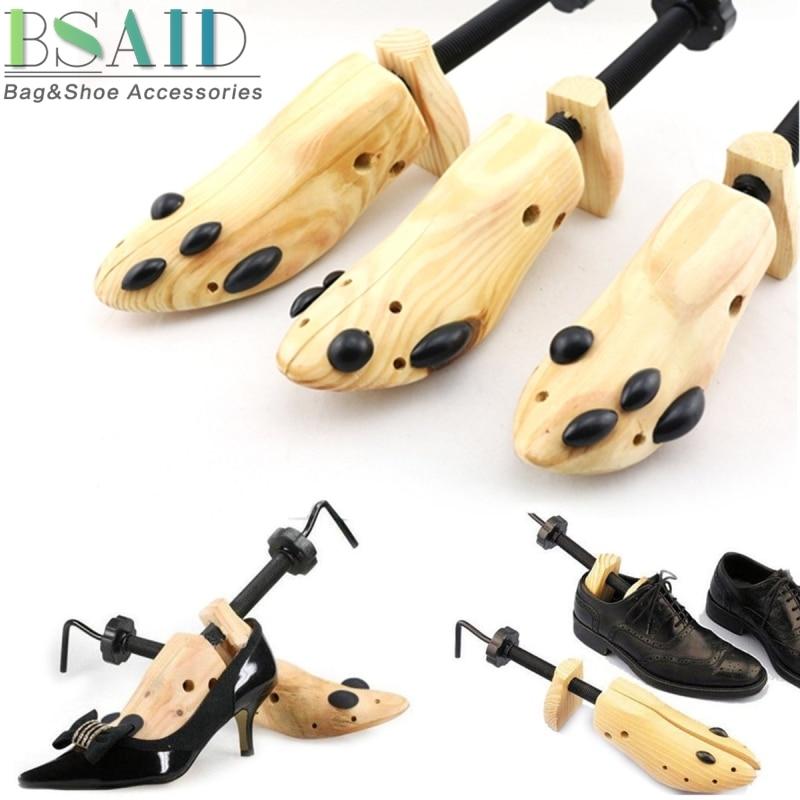 Bunidades say 1 pieza zapato elástico zapatos de madera árbol Shaper Rack, zapatos planos ajustables de madera bombas botas expansor árboles tamaño S/M/L Hombre mujeres