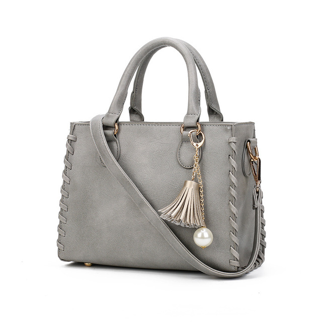 Fashion Bag Brand Designer Ladies Handbag Women s Shoulder Bags Matte  Leather New Weave Tassel Women Casual Tote Bag sac 54474de99af64