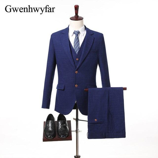 20bc9f47f2 US $87.4 24% OFF|2018 New Wool Dark Blue /Purple Red Geometric lines Men  Suits Slim Fit wedding suit men's Tailor made Suit(Jacket+Pants+Vest)-in ...