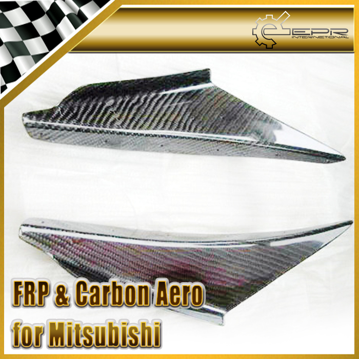 Car-styling For Mitsubishi Evolution EVO 8 Carbon Fiber JDM Front Bumper Canard Glossy Fibre Finish Exterior Trim Accessories