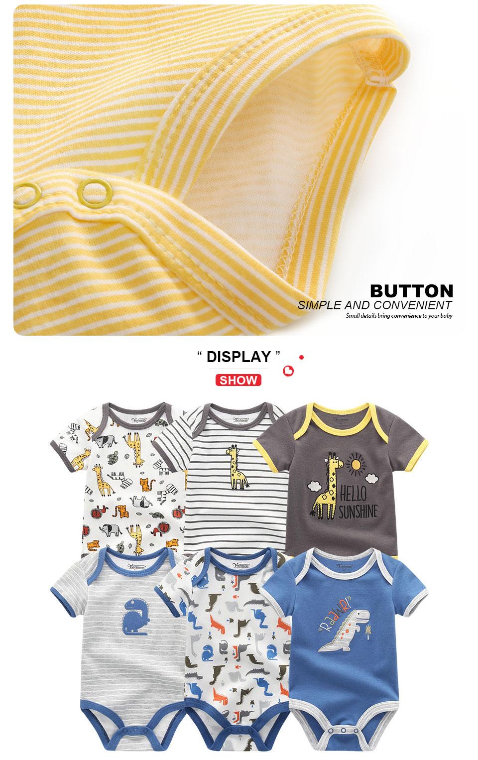 HTB1iq7.BIuYBuNkSmRyq6AA3pXaB 2019 6PCS/Lot Unisex Unicorn Baby Boy Clothes Cotton Kids Clothes Newborn Rompers 0-12M Baby Girl Clothes Roupa de bebe