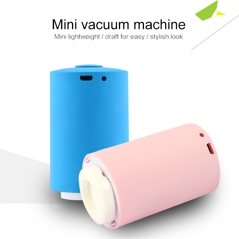 Dropship Mini Automatic Vacuum Compression Bag Sealer Suction Pump Househoud Snack Fresh Food Rod Strip Kitchen Tool with Clamp