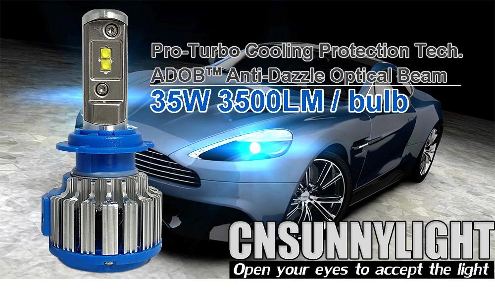 Auto Headlight Bulb Set H7 Led Tailor-made High Power 70W 7000lm Xenon White 6000K Super Bright Car Head Fog DRL Light Kit (3)