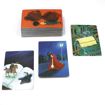 2018 obscure dixit 1 2 3 cards game total 252 playing cards wooden bunny zipper bag original back for party board game
