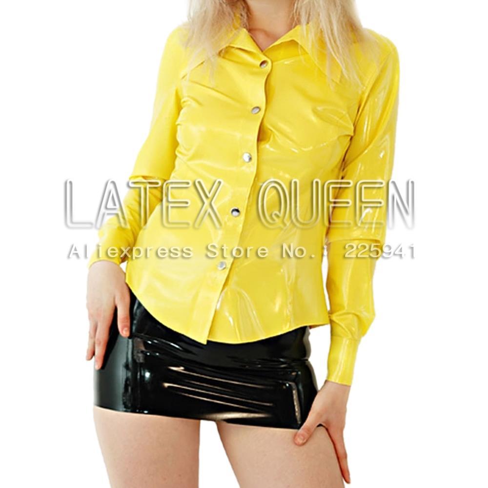Women 's Fashionable latex shirt tops