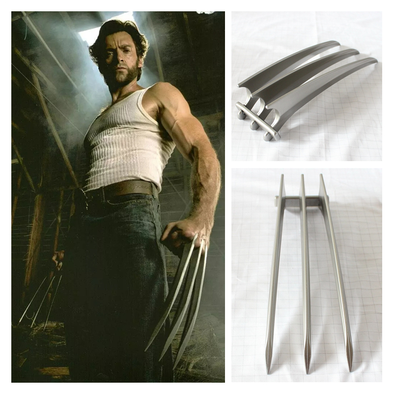 New 2pcs Wolverine Logan ABS Blade Claws Paw Cosplay costume prop Weapon toy