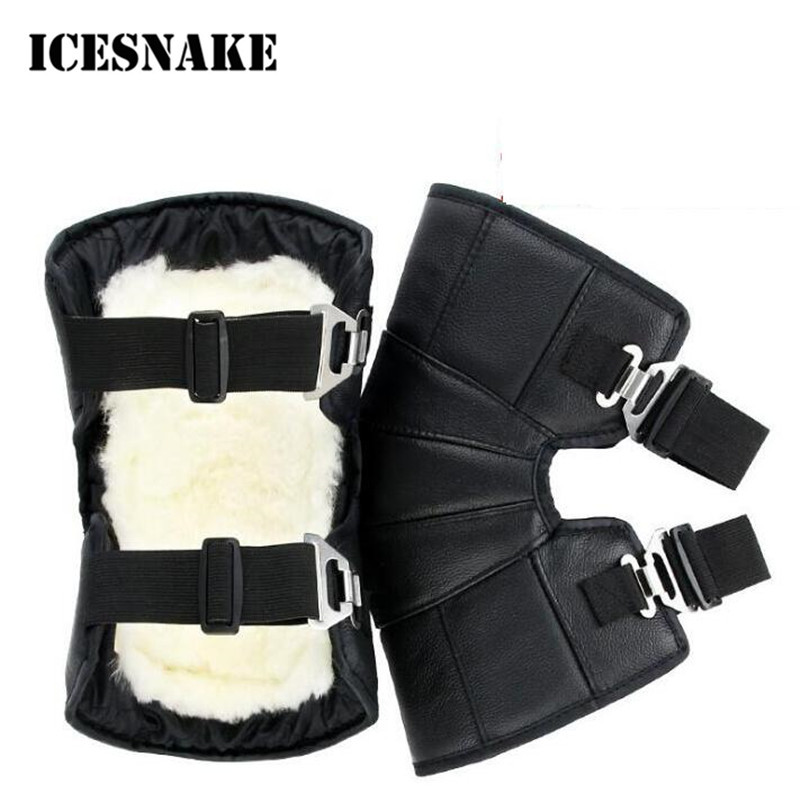 ICESNAKE Motorcycle Bike Warm Kneepad Legs Warmer Motorbike Riding Protective Knee Pads  ...