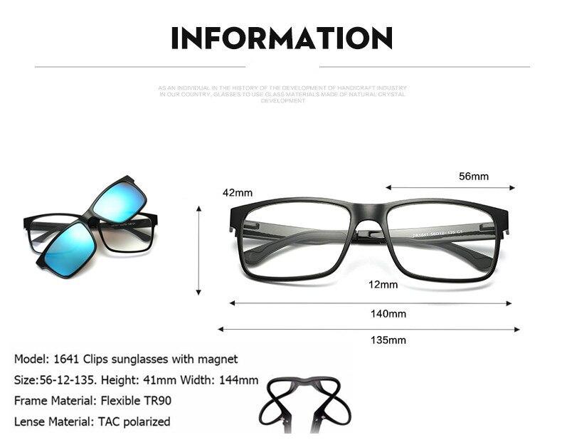 50239cc8629 Include Frame Polarized Clip On Sunglasses Men TR90 Custom Prescription  Glasses Frame Magnetic Clips Night Glasses Drive Magnet-in Sunglasses from  Apparel ...