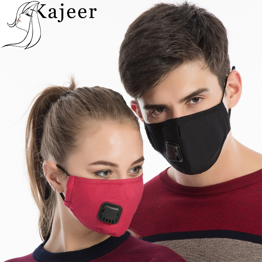 Kajeer Cotton PM2.5 Anti Haze Mask Breath Anti-Dust Mouth Mask Activated Carbon Filter Respirator Mouth-muffle Solid Mask Face