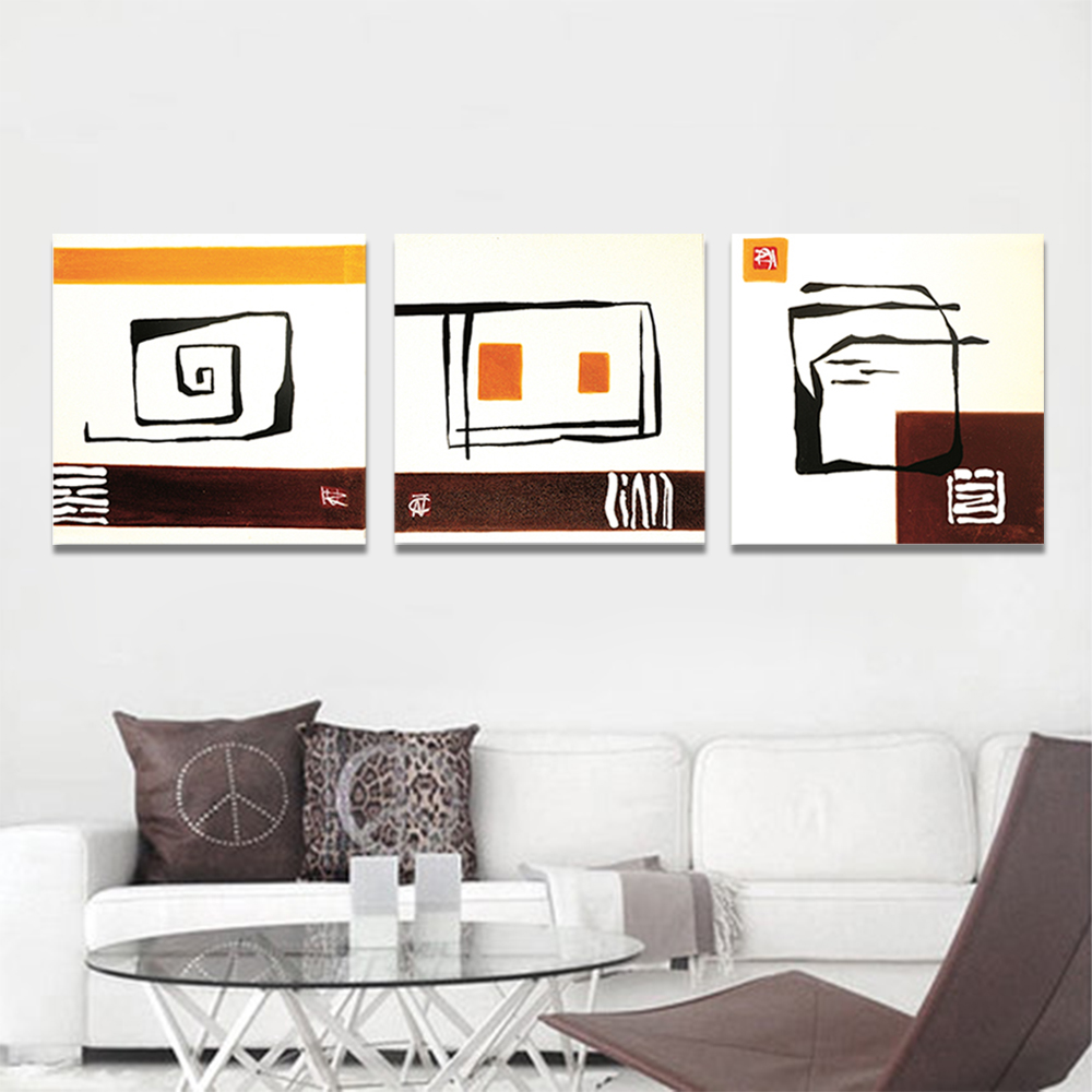 Unframed 3 pairs Abstract Canvas Painting Stairs House Wall Art Decor Prints Wall Pictures For Living Room Wall Art Decoration