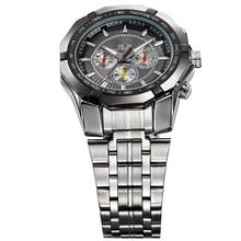 WEIDE Luxury Brand Full Stainless Steel Analog Display Date Men's Quartz Watch Business Watches Men Wristwatch relogio masculino