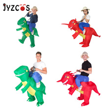 Free Shipping Adult Fancy Dress Suit / Party Halloween Christmas Xmas gift/   Inflatable dinosaur Costume adult green dinosaur inflatables halloween christmas rave party spoof clothes dinosaur toys mount