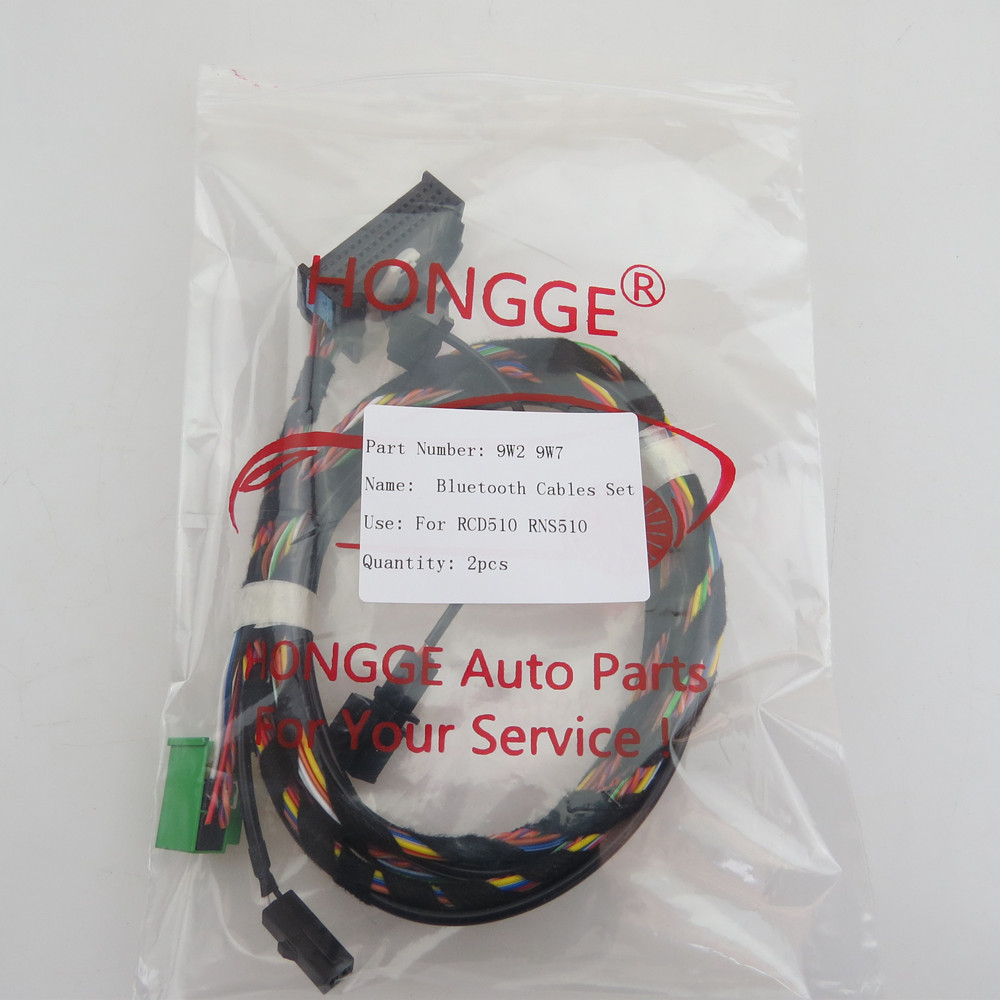 HONGGE Bluetooth Microphone Plug Wiring Harness Cables 9W2 9W7 For RCD510 RNS510 VW Passat B6 Golf aliexpress com buy hongge bluetooth microphone plug wiring 9w7 wiring harness at crackthecode.co