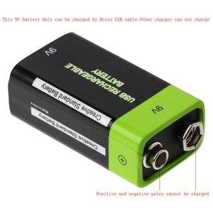 Image 4 - Batería Lipo 6F22 recargable por USB, 9V, 400mAh, para multímetro, micrófono, mando a distancia