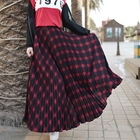 Women Plaid Skirt Sp...