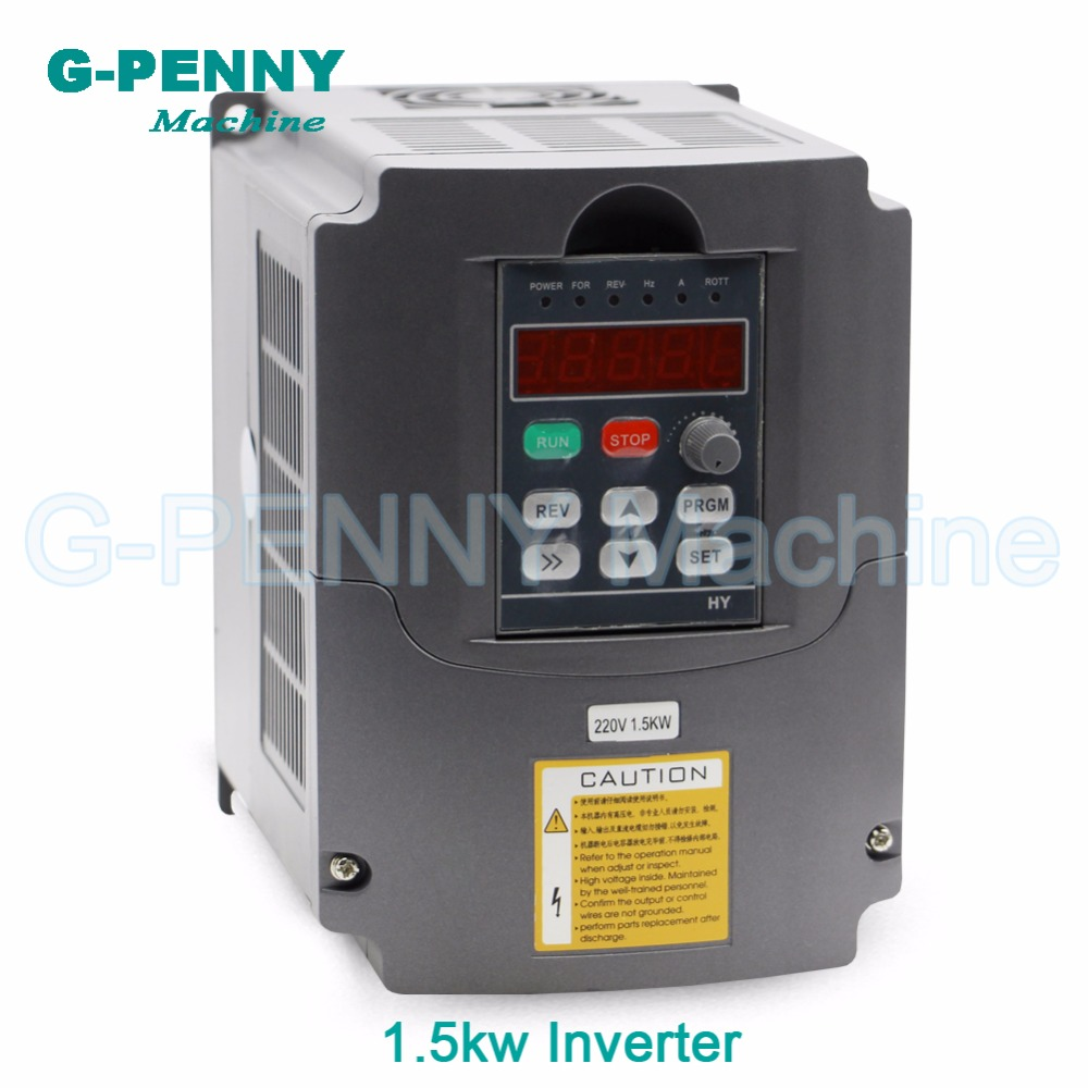 220V 1.5kw VFD Variable Frequency Driver cnc spindle motor driver speed control Inverter Input 1or 3HP 220V Output 3HP 220V ! 220v 0 75kw vfd variable frequency driver 750w spindle motor driver speed control inverter input 1or 3hp 220v output 3hp 220v