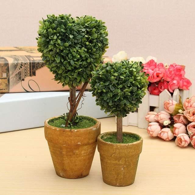 Wedding Arrangement Artificial Garden Gr Buxus Boxwood Topiary Landscape Fake Trees Pots Plants