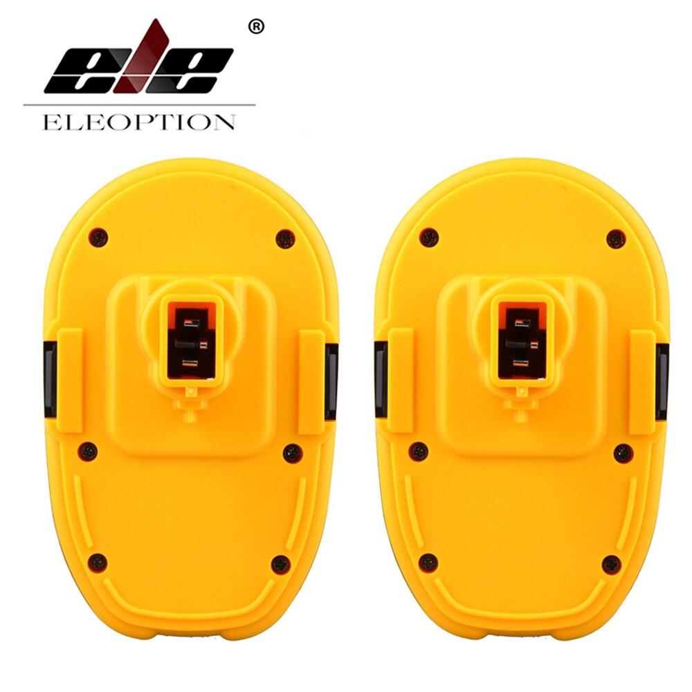 ELEOPTION 2PCS 18 Volt 18V 2.0mAh 2000mah Rechargeable Power Tool Battery for DeWALT DC9096-1 18V XRP Batteries набор bosch ножовка gsa 18v 32 0 601 6a8 102 адаптер gaa 18v 24