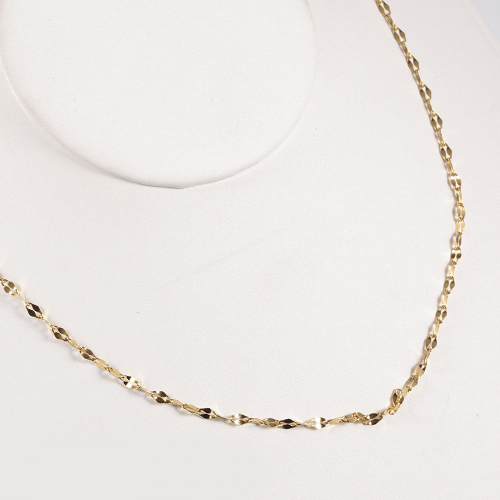 TL Simple DIY Chain Necklace For Men/Women Jewelry Gold Color Stainless Steel 2.5MM Twisted Rope Chain Simple Necklace