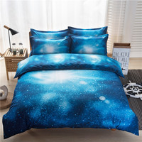 Hot Sale Hipster Galaxy 3D Bedding Set 2 3 4pcs Universe Outer Space Themed Duvet Cover
